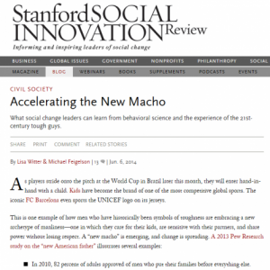 Accelerating the New Macho - Blog - Bernard van Leer Foundation