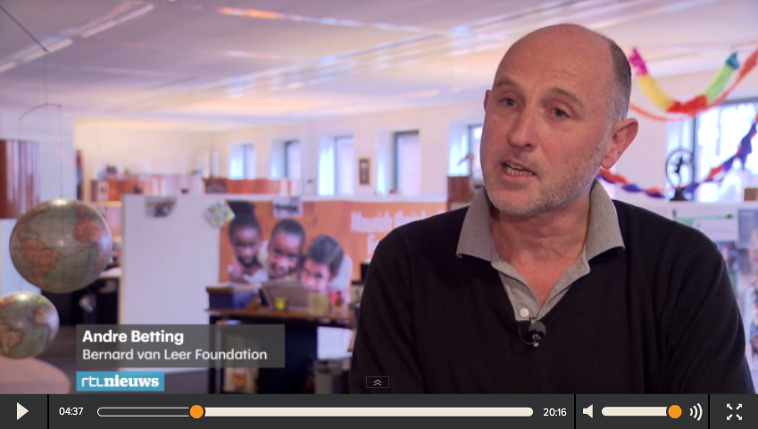 Bernard van Leer Foundation on RTL Nieuws