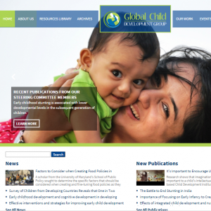 New website of the Global Child Development is launched!
