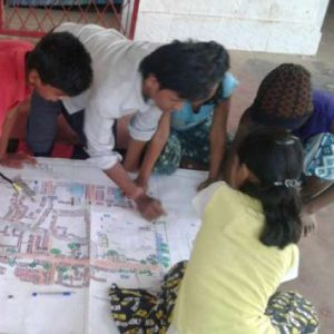 Children present their slum redevelopment plans to Bhubaneswar Development Authority - Bernard van Leer Foundation