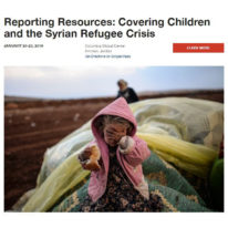Resources for journalists: children and the Syrian refugee crisis