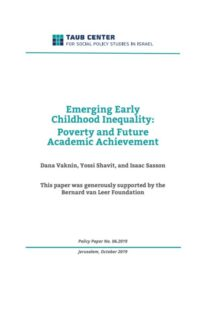 Emerging Early Childhood Inequality: Poverty and Future Academic Achievement - Research Report